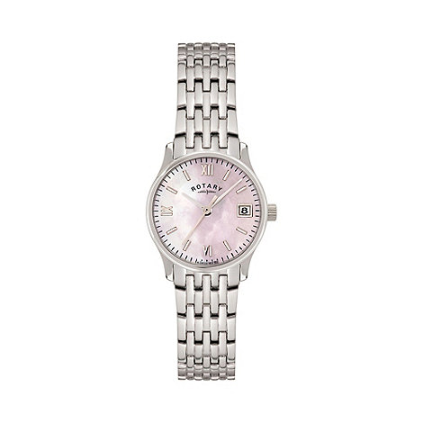 Rotary - Ladies white case strap watch