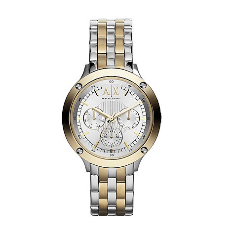 Armani Exchange - Ladies two-tone chronograph watch