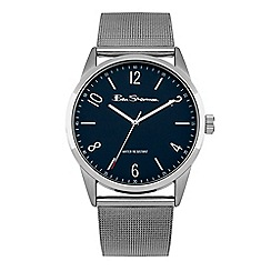 Ben Sherman - Men's silver mesh watch