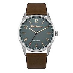 Ben Sherman - Men's brown strap watch