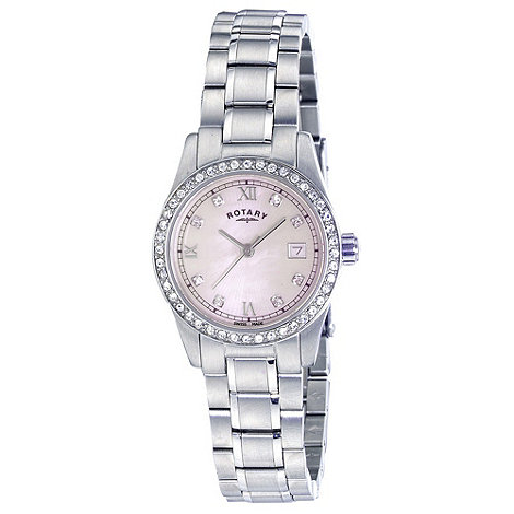 Rotary - Ladies white case bracelet watch