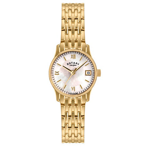 Rotary - Ladies gold plated bracelet watch