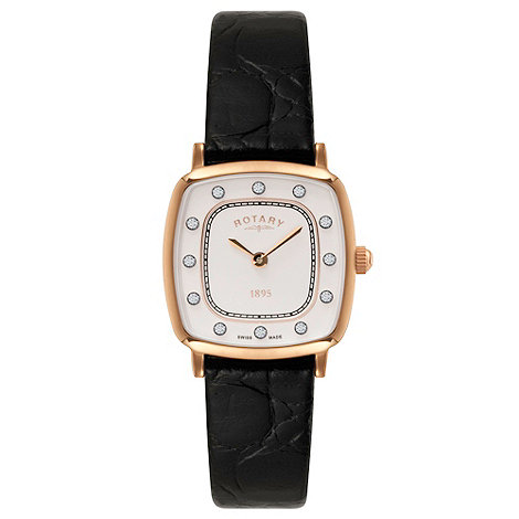 Rotary - Ladies rose gold plated ultra slim watch
