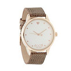 Floozie by Frost French - Ladies natural heart marker watch