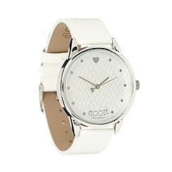 Floozie by Frost French - Ladies white snake effect watch