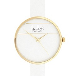 Principles by Ben de Lisi - Designer ladies white strike through watch