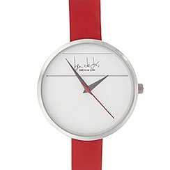 Principles by Ben de Lisi - Designer ladies red strike through watch