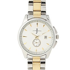 J by Jasper Conran - Designer men's gold textured link bracelet watch