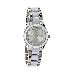 Infinite - Ladies silver enamel bracelet watch