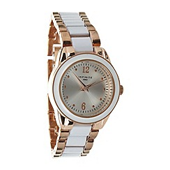 Infinite - Ladies rose gold enamel bracelet watch