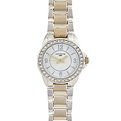 Infinite - Ladies gold mixed plated bracelet watch