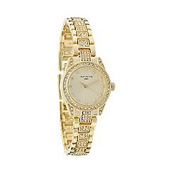 Infinite - Ladies gold diamante bracelet watch
