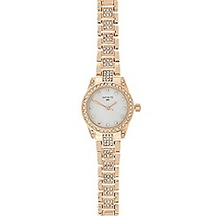Infinite - Ladies rose gold pave diamante bracelet watch
