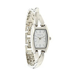Infinite - Ladies silver twist bracelet watch