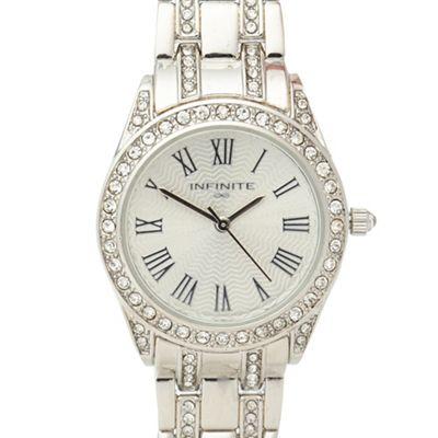 Infinite Ladies Silver Crystal Embellished Watch Debenhams