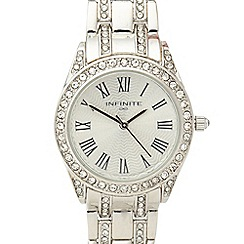 Infinite - Ladies silver crystal embellished watch