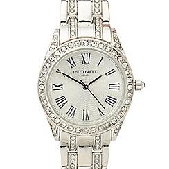 Infinite - Ladies silver crystal embellished watch