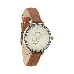 Mantaray - Ladies brown bird strap watch