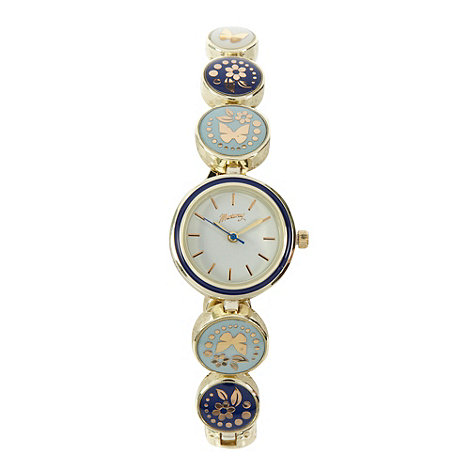 Mantaray - Ladies gold enamel watch