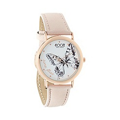 Floozie by Frost French - Ladies natural butterfly 'Time flies' watch