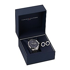 Tommy Hilfiger - Men's silver watch and cufflinks gift set