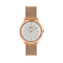 Henry London - Ladies rose gold 'Iconic' watch HL34-M-0230