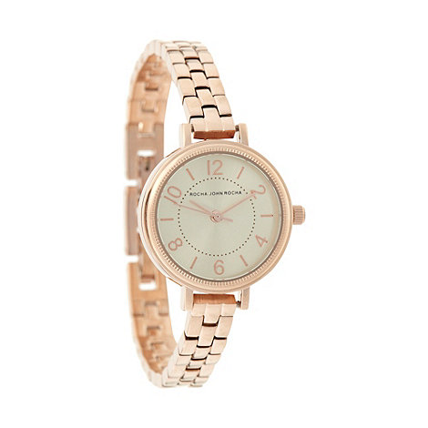 RJR.John Rocha - Designer ladies rose gold wrist watch