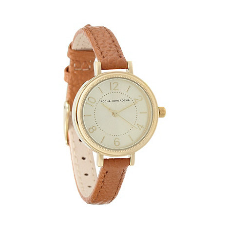 RJR.John Rocha - Designer ladies tan leather wrist watch