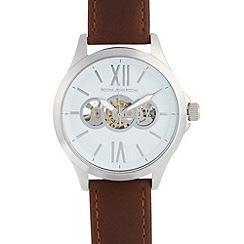 RJR.John Rocha - Designer men's brown leather watch