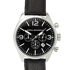 RJR.John Rocha - Designer men's black chronograph watch