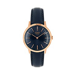 Henry London - Ladies navy 'Iconic' watch HL34-S-0216
