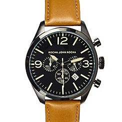 RJR.John Rocha - Designer men's tan chronograph oversized watch