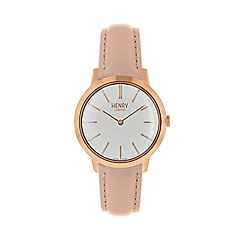Henry London - Ladies natural 'Iconic' watch HL34-S-0222
