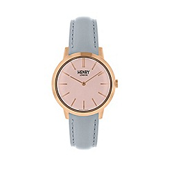 Henry London - Ladies blue 'Iconic' watch HL34-S-0228