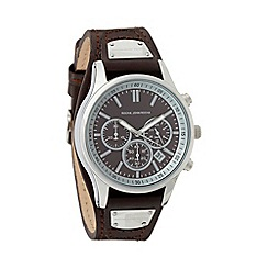 RJR.John Rocha - Designer men's chocolate leather chronograph watch