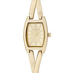 Infinite - Ladies gold twist bracelet watch