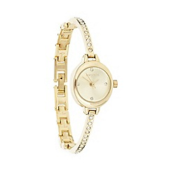 Infinite - Ladies' gold pave diamante bracelet watch