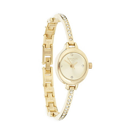 Infinite - Ladies+ gold pave diamante bracelet watch