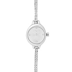 Infinite - Ladies' silver pave diamante bracelet watch