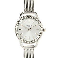 Infinite - Ladies silver mesh watch