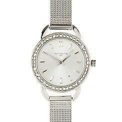 Infinite - Ladies silver mesh watch