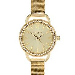 Infinite - Ladies gold mesh watch