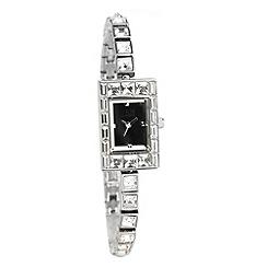 Van Peterson 925 - Women's silver coloured stone set bracelet watch
