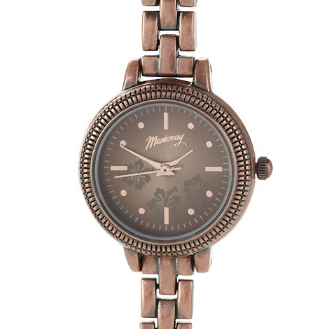 Mantaray - Ladies bronze floral dial watch