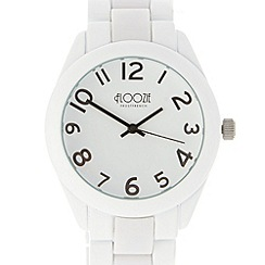 Floozie by Frost French - Ladies white link chain watch