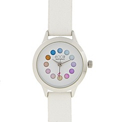 Floozie by Frost French - Ladies white rotating colour dial watch