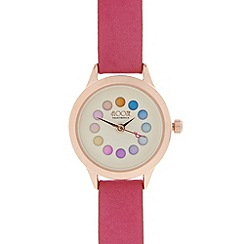 Floozie by Frost French - Ladies pink rotating colour dial watch