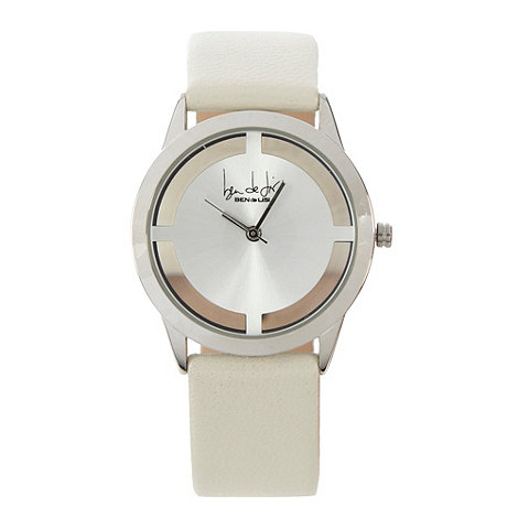 Principles by Ben de Lisi - Designer ladies white transparent case watch
