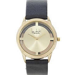 Principles by Ben de Lisi - Designer ladies gold transparent case watch