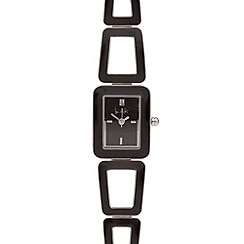 Principles by Ben de Lisi - Ladies designer black enamel bracelet watch